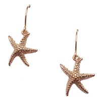 Nautical Collection Gold Star Fish Earrings