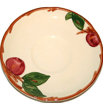 Vintage Franciscan Apple Pattern Saucer - Earthenware - Replacement