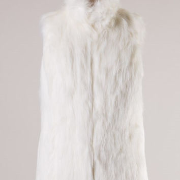 Meet Me at the Lodge Faux Fur Vest - Winter White