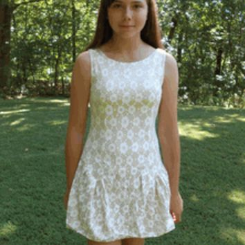 Elisa B Novelty Knit Gold & Ivory Tween Holiday dress - Special Occasion Girls Dresses