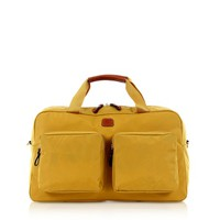 Bric's Designer Travel Bags X-Travel Gold Nylon Boarding Duffle with Pockets