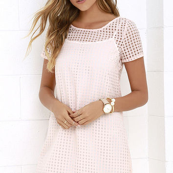 Jack by BB Dakota Hendricks Peach Shift Dress