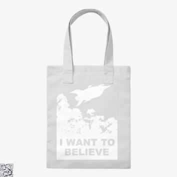 I Want To Believe Planet Express, The Simpsons Tote Bag