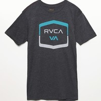 RVCA Rounded Hex T-Shirt - Mens Tee - Black