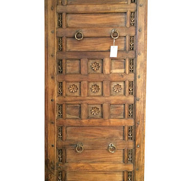 Antique Door HEADBOARD LOTUS CARVED Teak Panel