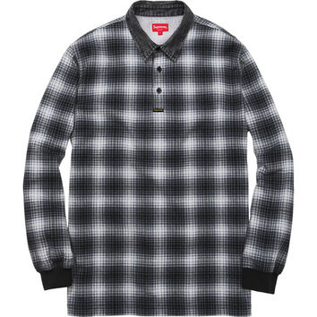 Supreme: Plaid Rugby Top - Black