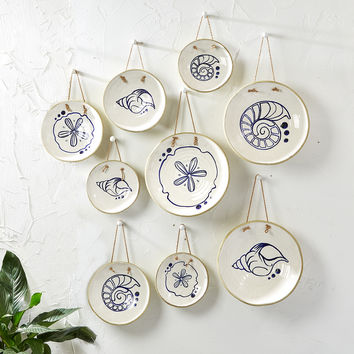 Mykonos Hanging Decorative Stoneware Plates