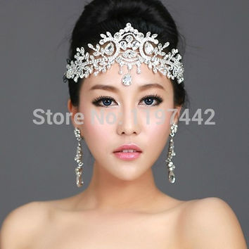 2016 hot sale bridal Hairbands Crystal Headbands women Hair Jewelry Wedding accessories crystal Tiaras And Crowns Head Chain
