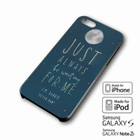 Peter Pan Quotes 2 iPhone 4 5 6 6+ Samsung Galaxy S3 4 5 iPod Touch 4 5 HTC One M7 8 Case