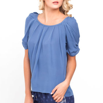 Joie Eleanor Blouse in Sea Blue