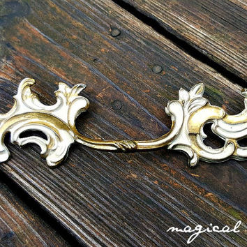 French Provincial Drawer Pull  French Country Dresser Pull Vintage Drawer Pull Dresser Drawer Pull Brass Drawer Pull Decorative Drawer Pull