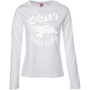 Firefly Wash's Flight School Adult T-shirt -01  Ladies' Long Sleeve Cotton TShirt