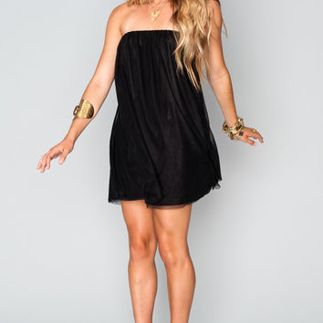 Show Me Your mumu Lorraine Tube Dress ~ Black Swan Tulle