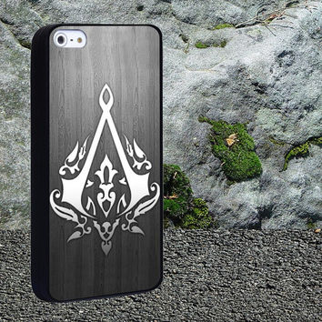 Assassin's creed 3 logo Case for iPhone 4/4s,iPhone 5/5s/5c,Samsung Galaxy S3/s4 plastic & Rubber case, iPhone Cover
