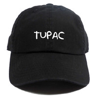 TUPAC DAD HAT - BLACK