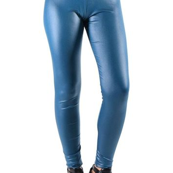 Dinamit Faux Leather Liquid Wet Look Leggings