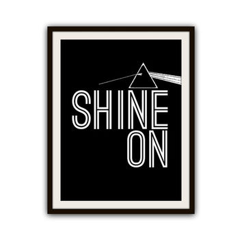 Shine on Crazy Diamond Pink Floyd Poster Print