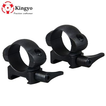 QD Lever Lock 30mm Scope Mount Steel High Profile Weaver Picatinny Rail Quick Release Scope Ring Hunting Accessories 25.4MM