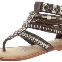 Naughty Monkey Foo Sah Women's Aztec Gladiator Sandals