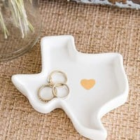 Texas Ceramic Dish