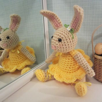 Easter Bunny, Ballerina Bunny, Crochet Stuffed Bunny, Amigurumi Bunny by CROriginals