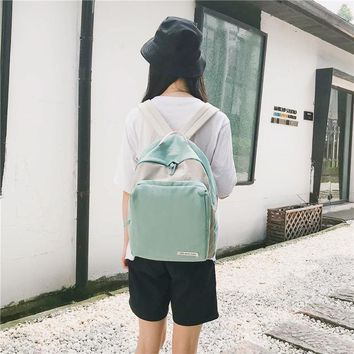 Student Backpack Children 2018 New Homage Minimalist Schoolbag, Korean Version of Harbin High School Student Backpack IPad Books and Other Articles AT_49_3