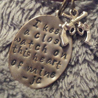"Johnny Cash- ""I Keep a Close Watch on This Heart of Mine"" Necklace"