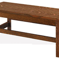 """Arts & Crafts Mission Style Furniture Solid Oak 42"""" Entryway Sitting Bench"""