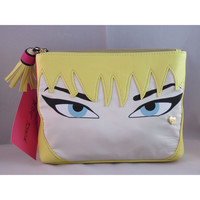 Betsey Johnson Cosmo Fushia Blonde Face Makeup Cosmetic Bag