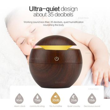 Aroma Essential Oil Diffuser 2 Color LED Change Night Light