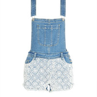 Crochet Shortall - Denim