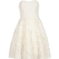 Strapless ruffle dress - Natural | Dresses | Ted Baker