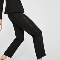 TUXEDO TROUSERS WITH SIDE TRIM DETAIL DETAILS