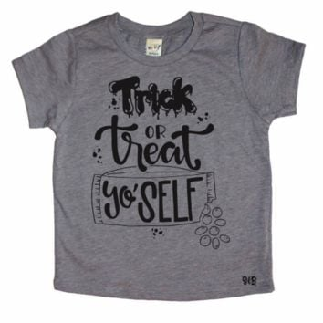 Trick Or Treat Yo' Self Toddler and Baby Tee