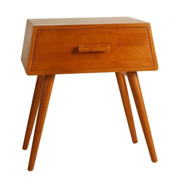 Porthos Home Brooklyn Mid-Century Walnut Side Table | Overstock.com Shopping - The Best Deals on Coffee, Sofa & End Tables