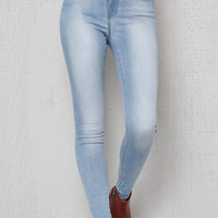 PacSun California Blue High Rise Skinny Jeans at PacSun.com