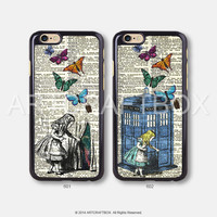 Alice Police Box Vintage Disney iPhone 6 6 Plus 5S 5C case 402