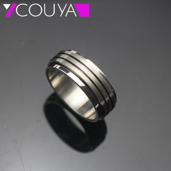 2017 New 316L stainless steel spin rings  for men jewelry