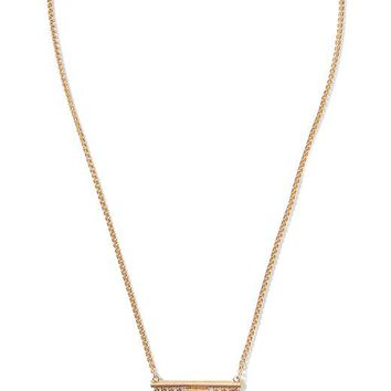 Banana Republic Pyramid Spike Pendant Necklace Size One Size - Gold