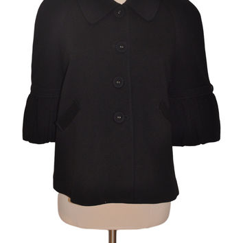 Black Blazer Elbow Sleeve Jacket by Mimi Maternity