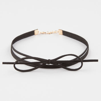 FULL TILT Suede Bow Choker | Necklaces