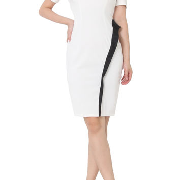KASIA Mid Sleeve Fitted Dress White