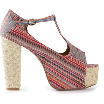 Jeffrey Campbell 'Foxy Wood' Platform Sandals