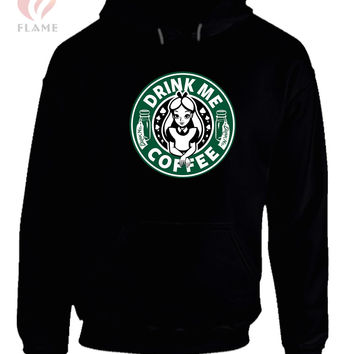 Drink Me Coffee Alice In Wonderland Hoodie