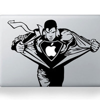 Superman--Macbook Decals Macbook Stickers Mac Decals Mac Stickers Vinyl Decal for Apple Laptop Macbook Pro / Macbook Air / iPad