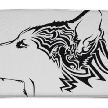 Bath Mat, Tribal Wolf Tattoo