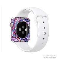 The Vibrant Purple Paisley V5 Full-Body Skin Kit for the Apple Watch