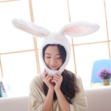 Hat For Cute girl plush hat with rabbit ears rabbit headdress photo props For Women