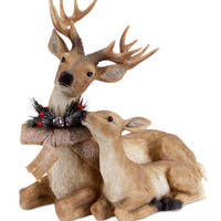 Jolly Holidays Collection Lying Deer w/Fawn L
