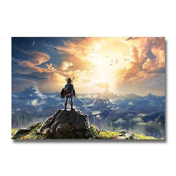 The Legend of Zelda Breath of the Wild Game Silk Poster Wall Art Print 12x18 24x36 inch Decoration Pictures Wallpaper Room Decor